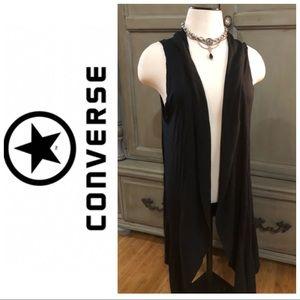 Converse black long vest